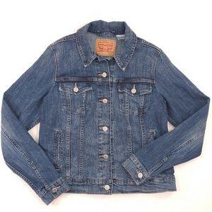 LEVI'S Women's Denim Blue Jean Jacket - Stretch